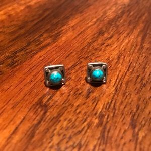 Lucky Brand Turquoise Silver Stud Earrings